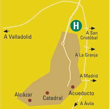 Plano de acceso de Hotel Puerta De Segovia