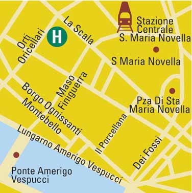 Plano de acceso de Hotel Rivoli