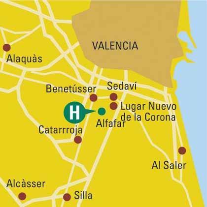 Plano de acceso de Hotel B.W. Albufera