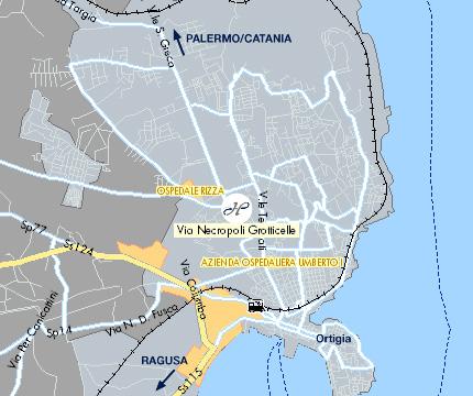Plano de acceso de Hotel Panorama