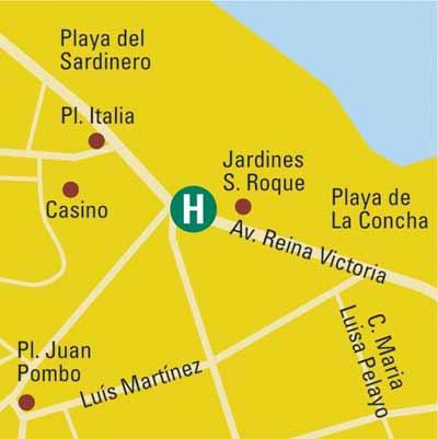 Plano de acceso de Hotel Silken Rio Santander