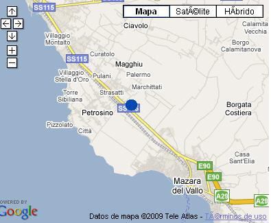 Plano de acceso de Hotel Baglio Basile