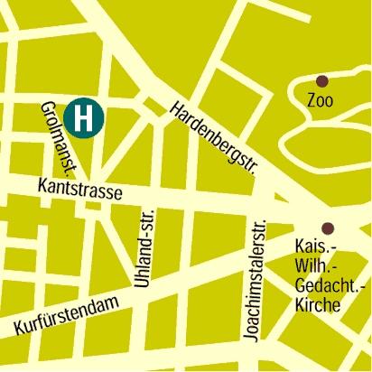 Plano de acceso de Hotel Hecker S