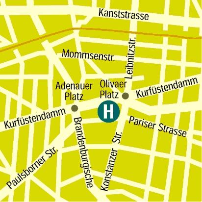 Plano de acceso de Olivaer Aparthotel
