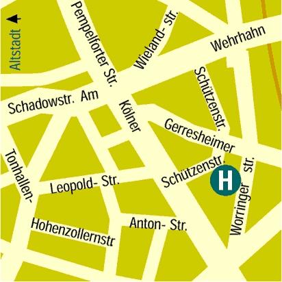 Plano de acceso de Hotel Residenz