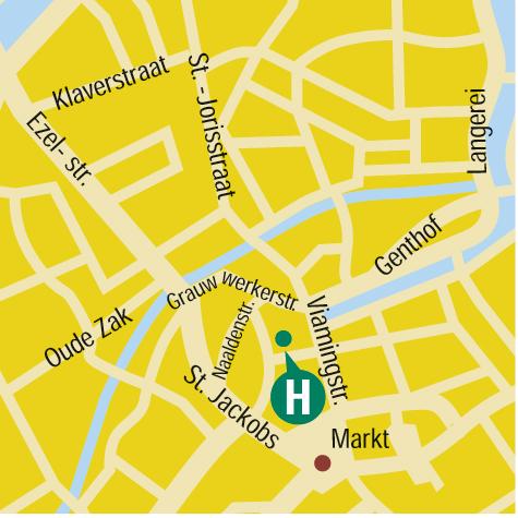 Plano de acceso de Hotel Hans Memling