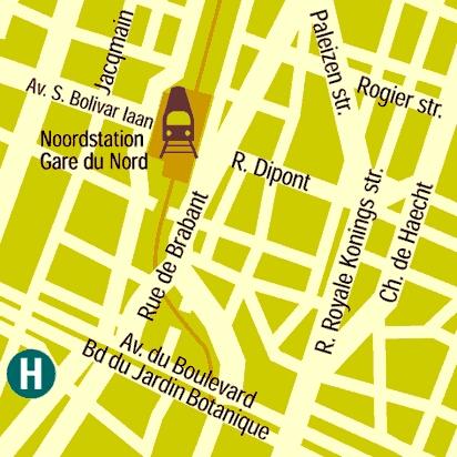 Plano de acceso de Hotel Le Dome