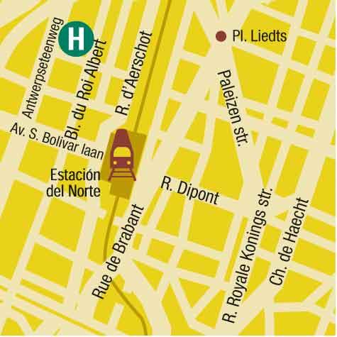 Plano de acceso de Hotel Husa President Park