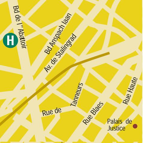 Plano de acceso de Hotel Ustel