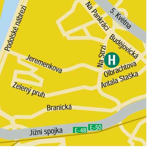 Plano de acceso de Hotel Barcelo Praha