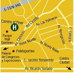 Plano de acceso de Hotel H10 Andalucia Plaza