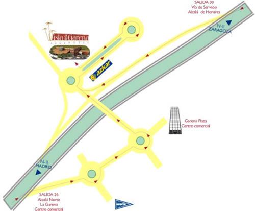 Plano de acceso de Hotel Isla De La Garena
