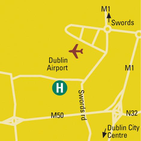 Plano de acceso de Carlton Dublin Airport Hotel
