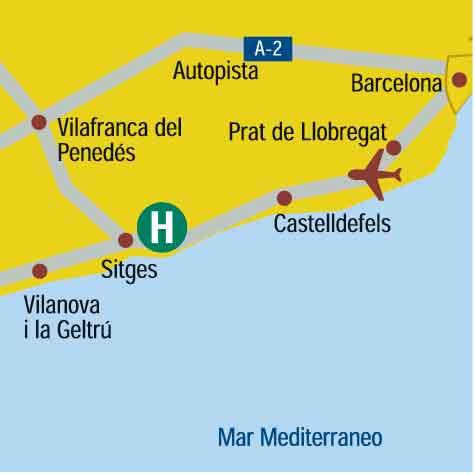 Plano de acceso de Hotel Calipolis