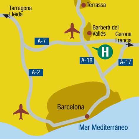 Plano de acceso de Hotel Campanile Barcelona Barbera