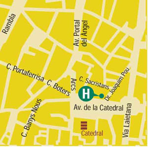 Plano de acceso de Hotel Colon