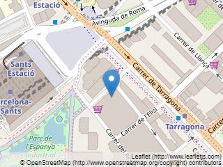 Plano de acceso de Hotel Expo Barcelona