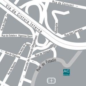 Plano de acceso de Hotel Ac Porto