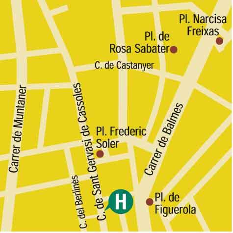 Plano de acceso de Hotel Silken St. Gervasi
