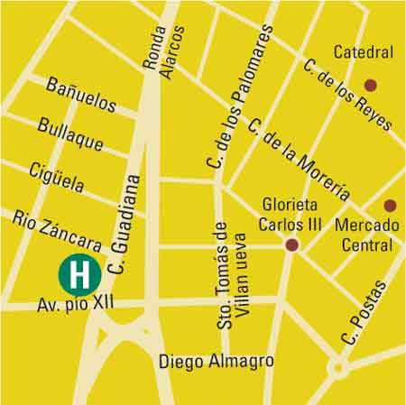 Plano de acceso de Hotel Palacio Del Mar