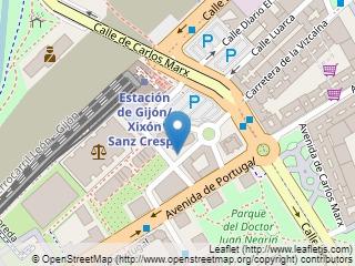 Plano de acceso de Hotel Silken Ciudad Gijon