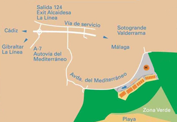 Plano de acceso de Hotel Best Westrem Golf And Beach