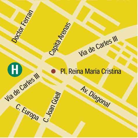Plano de acceso de Hotel Princesa Sofía