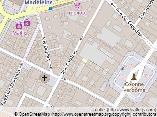 Plano de acceso de Hotel Castille  Paris (75001)