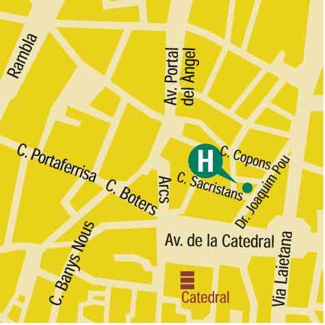Plano de acceso de Hotel Regencia Colon