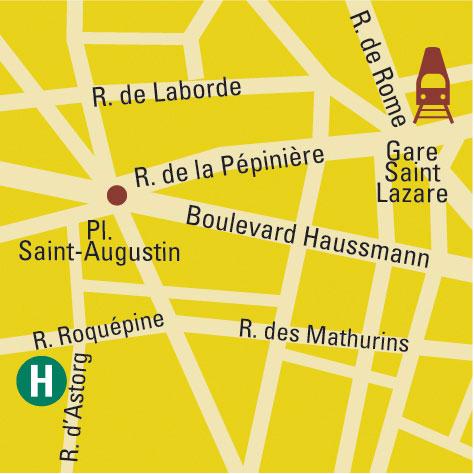 Plano de acceso de Hotel Astor Saint Honore (75008)