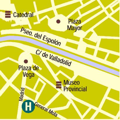 Plano de acceso de Hotel Corona De Castilla