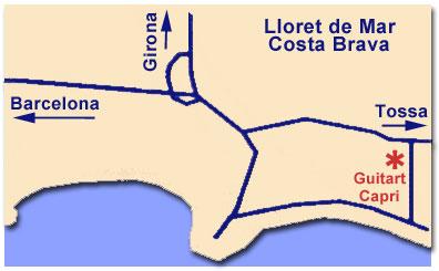 Plano de acceso de Hotel Guitart Capri