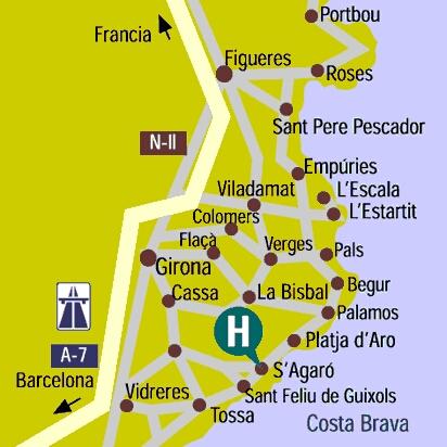 Plano de acceso de Hotel Hostal De La Gavina