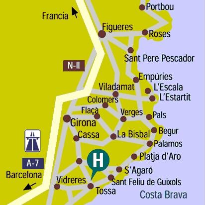 Plano de acceso de Hotel B.W. Mar Menuda