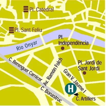 Plano de acceso de Hotel Ultonia