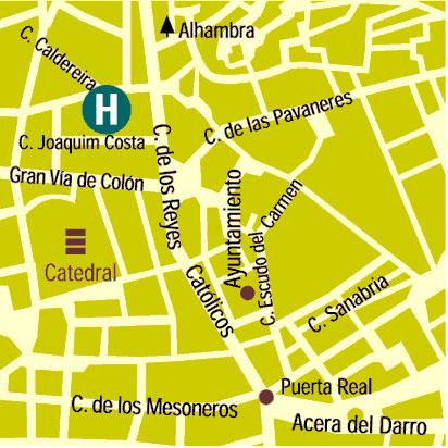 Plano de acceso de Hotel Anacapri