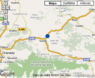 Plano de acceso de Hotel Cuevas P.Antonio De  Alarcon