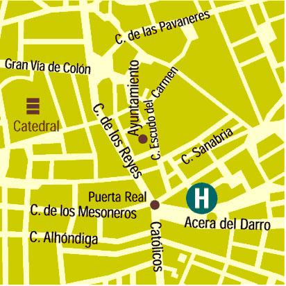 Plano de acceso de Hotel Dauro