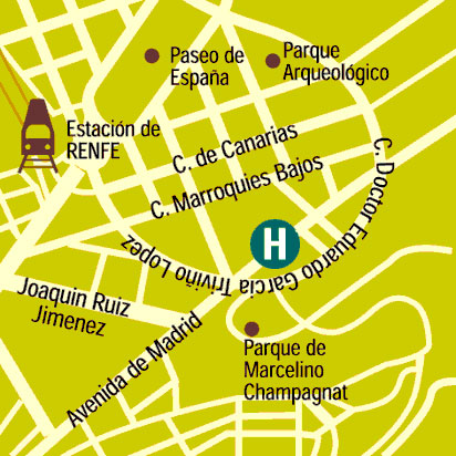 Plano de acceso de Hotel Infanta Cristina