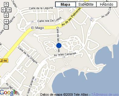 Plano de acceso de Hotel H10 Lanzarote Gardens