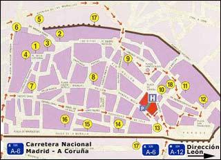 Plano de acceso de Hotel Astur Plaza