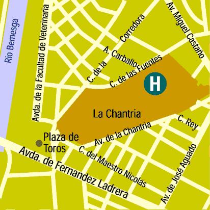 Plano de acceso de Hotel Silken Luis De Leon
