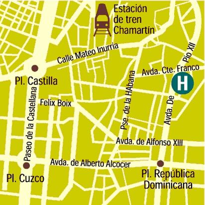Plano de acceso de Hotel Aristos