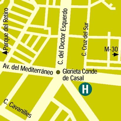 Plano de acceso de Hotel Claridge