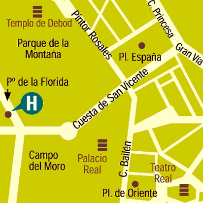 Plano de acceso de Hotel Florida Norte