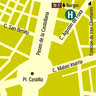Plano de acceso de Hotel Suites Foxa 25