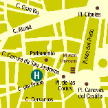 Plano de acceso de Hotel El Prado