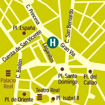 Plano de acceso de Hotel Mayorazgo