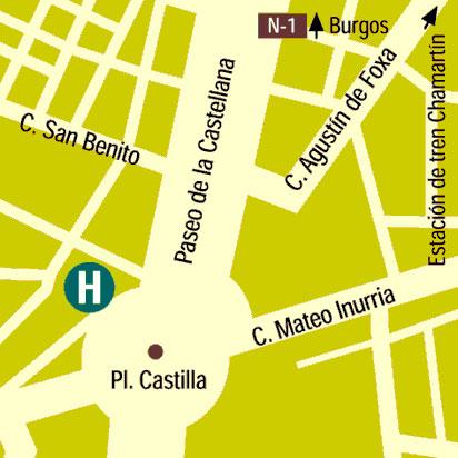 Plano de acceso de Hotel Silken Puerta Castilla