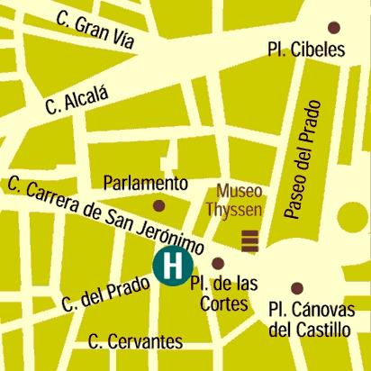 Plano de acceso de Hotel Villa Real